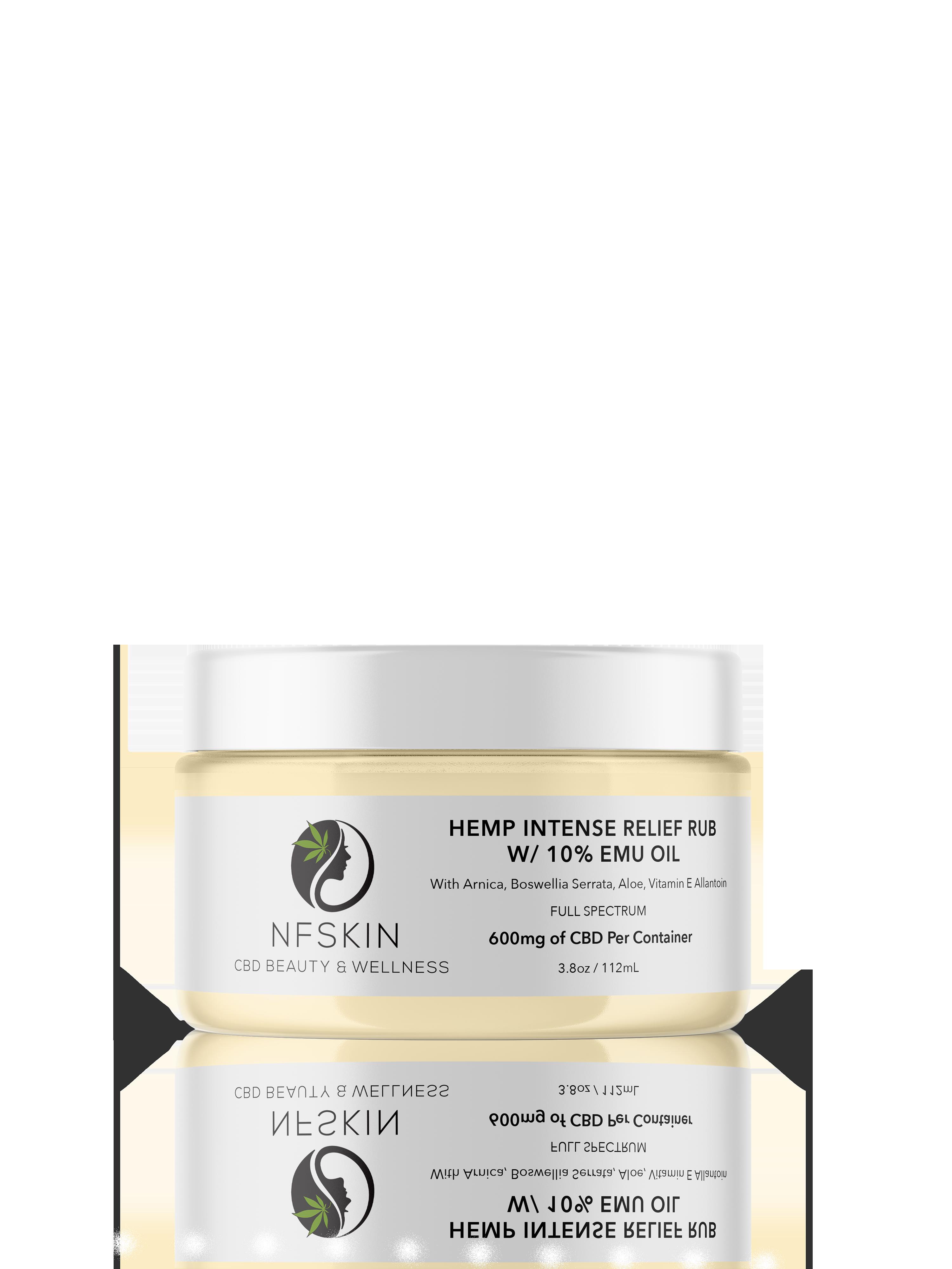 Hemp Intense Relief Rub w/ 10% Emu Oil – 600mg