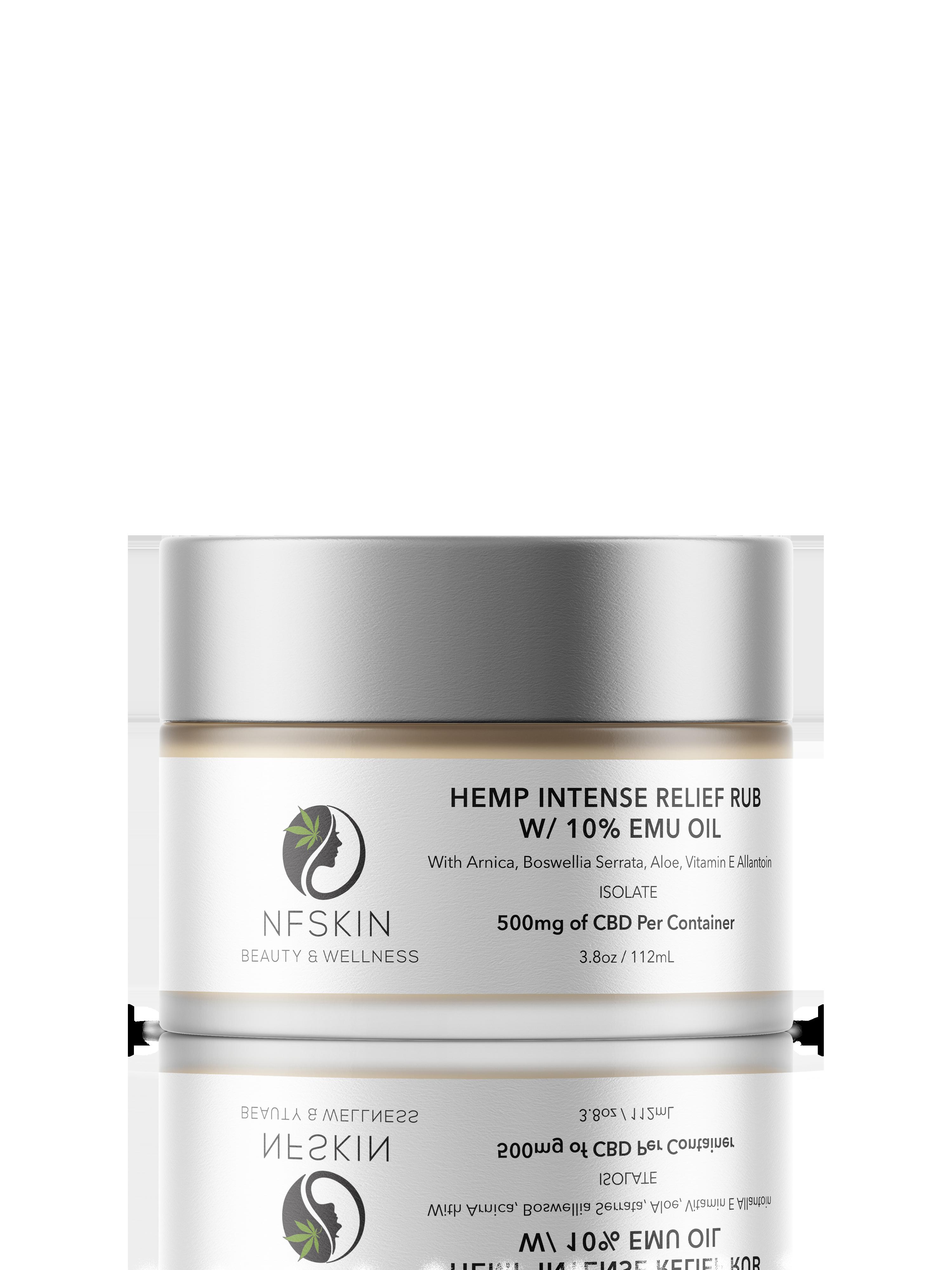Hemp Intense Relief Rub w/ 10% Emu Oil – 500mg