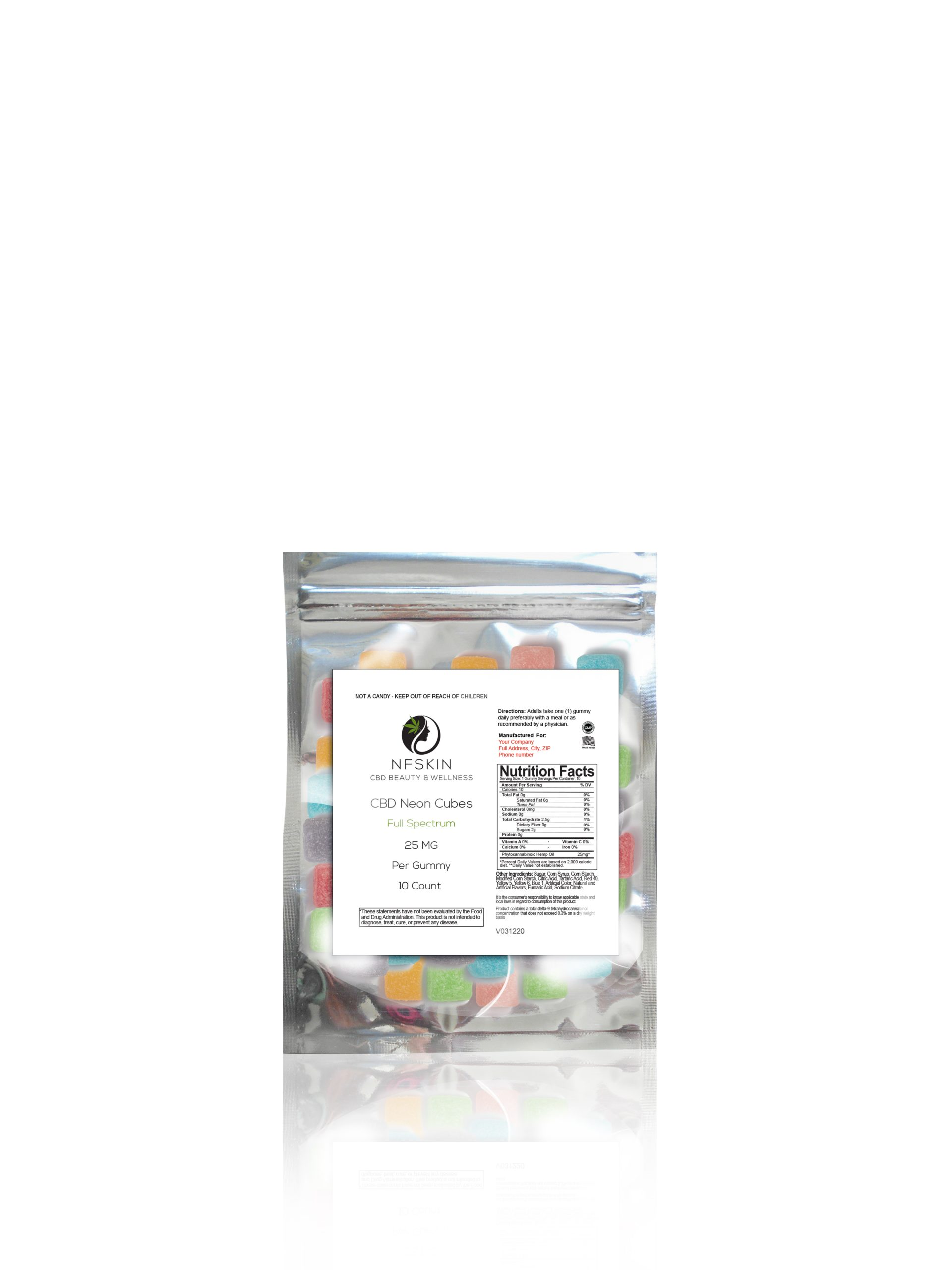 CBD Full Spectrum Sour Cubes – 10 Count