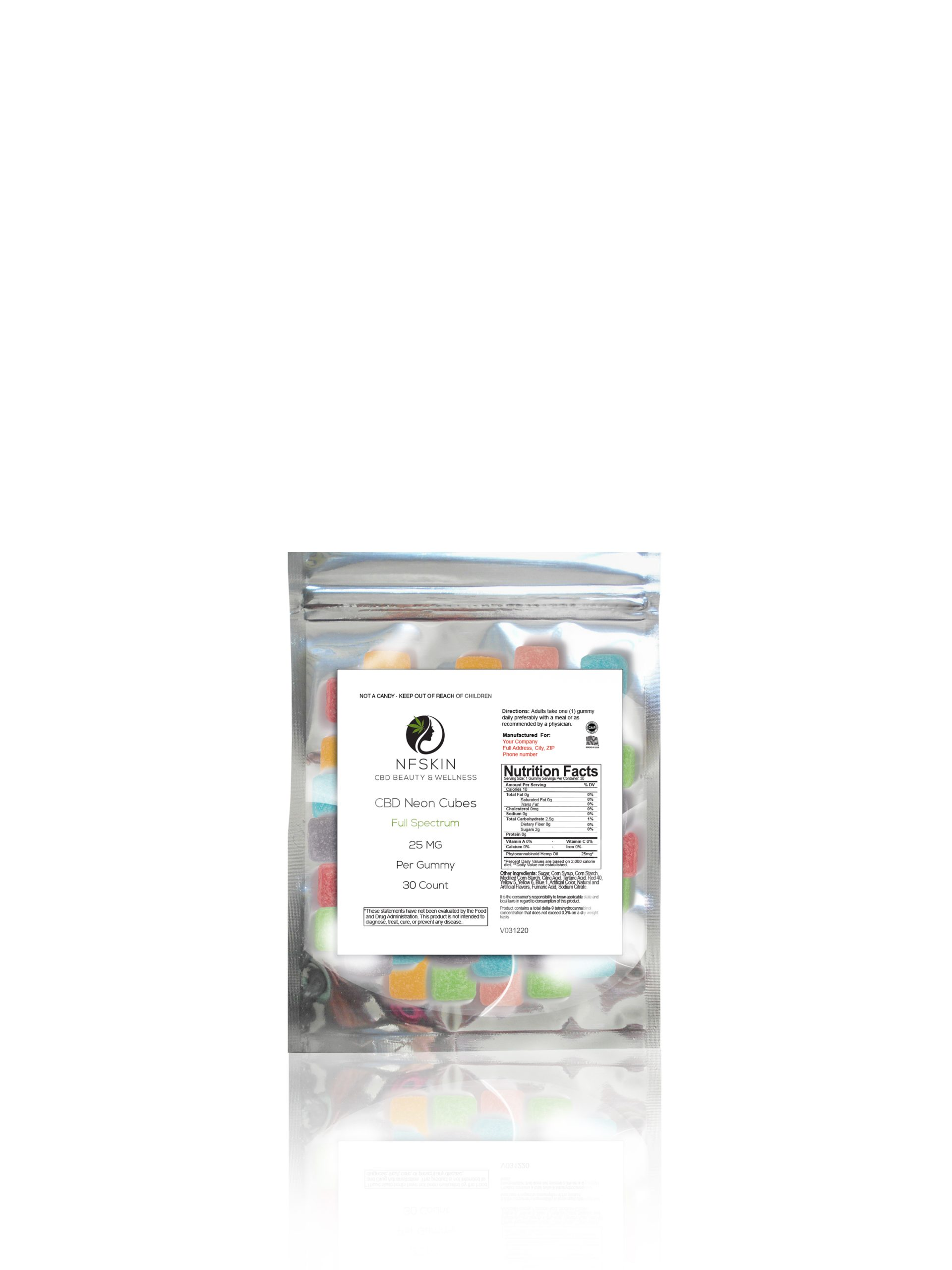 CBD Full Spectrum Sour Cubes – 30 Count