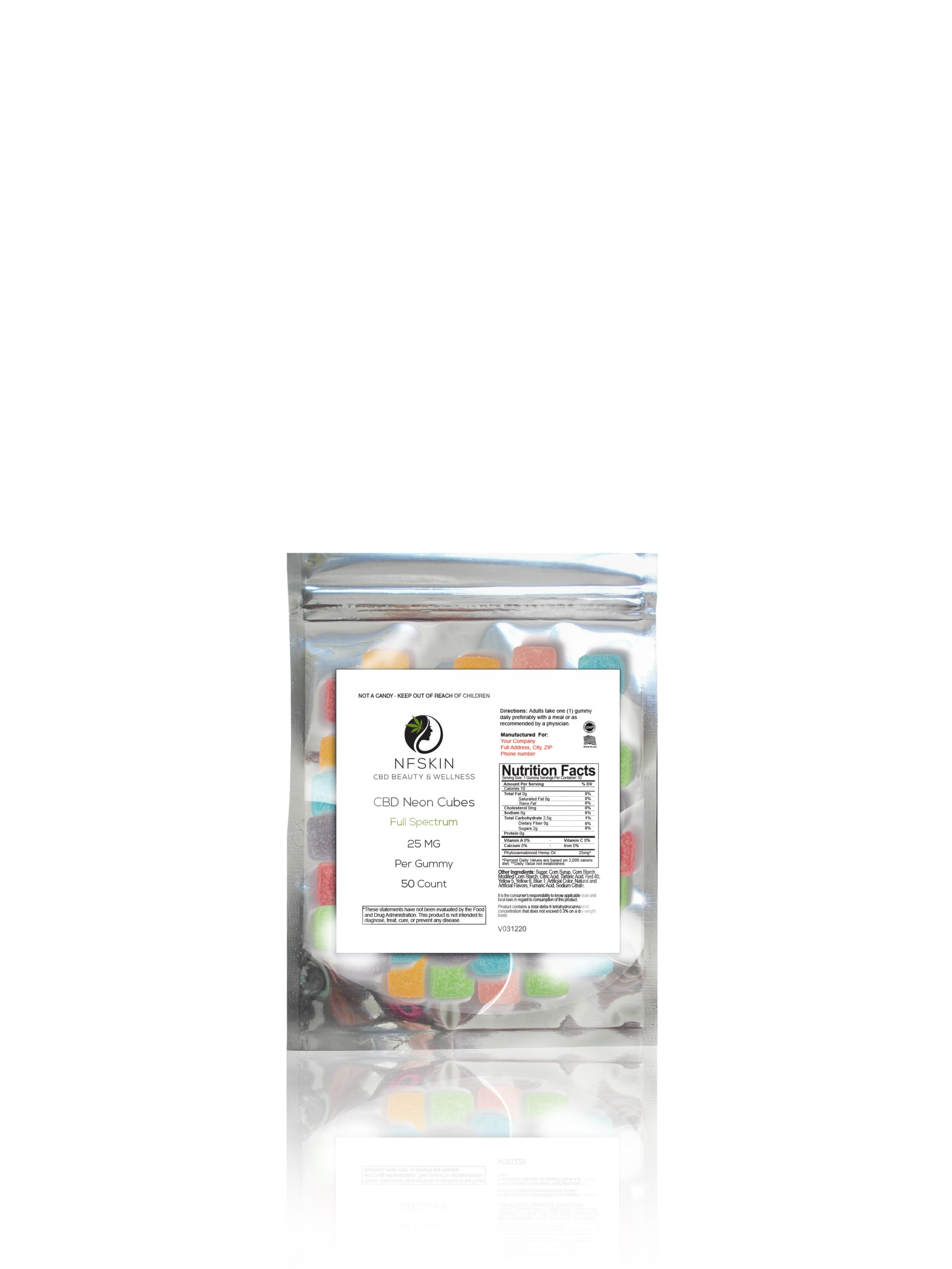 CBD Full Spectrum Sour Cubes – 50 Count