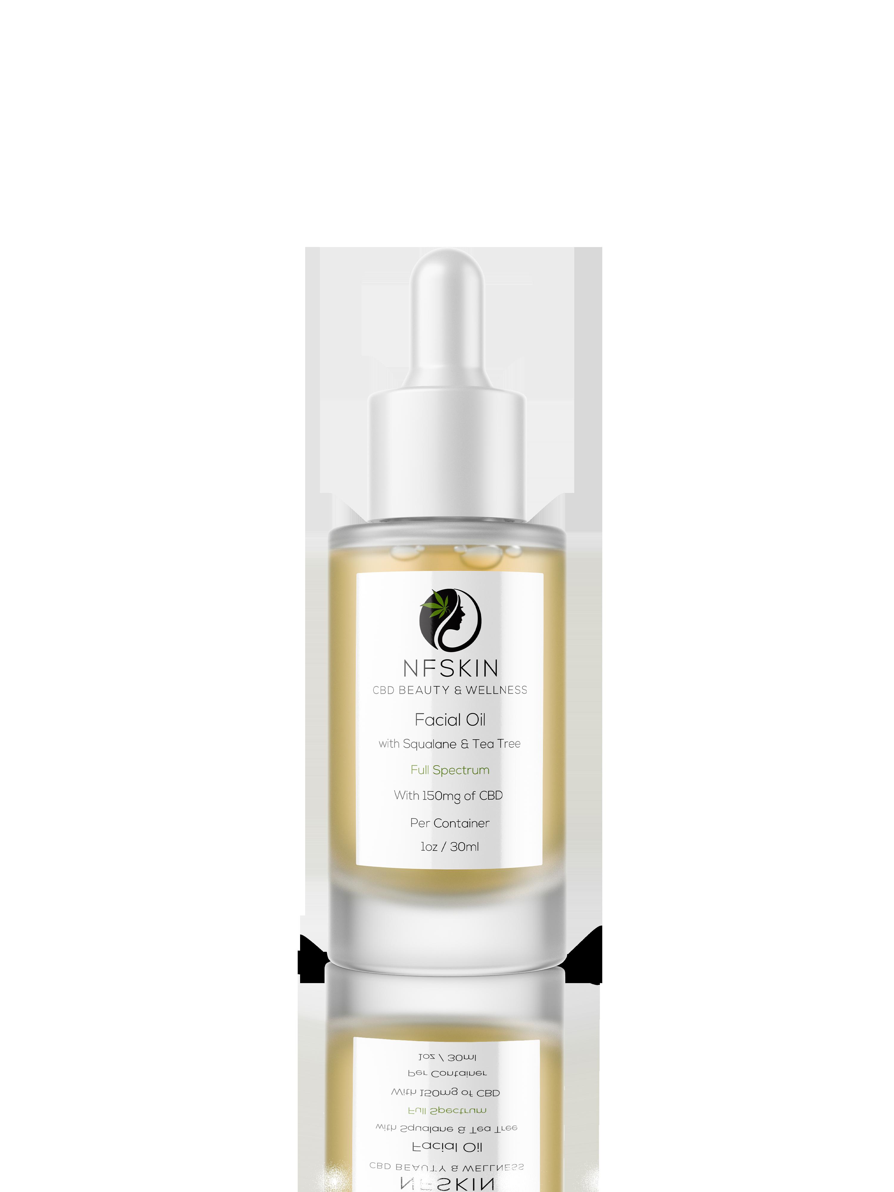 Facial Oil + Squalane and Tea Tree Oil